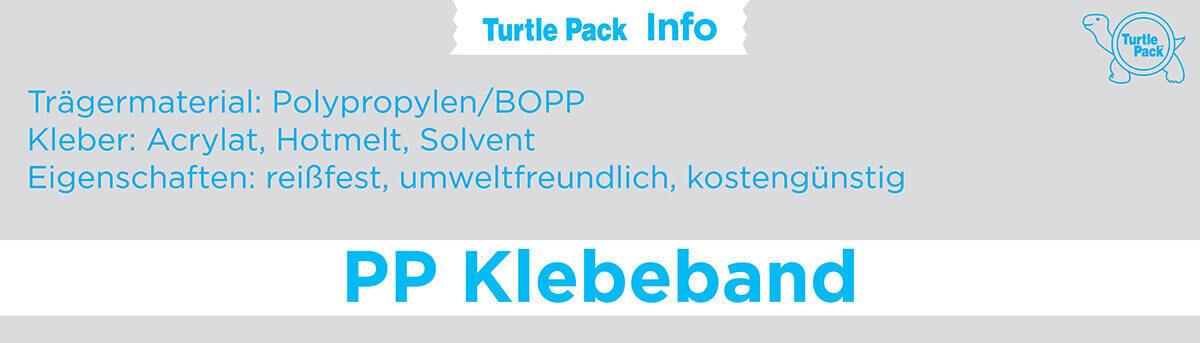 PP Klebeband bedrucken - Eigenschaften | Turtlepack Onlinekonfigurator