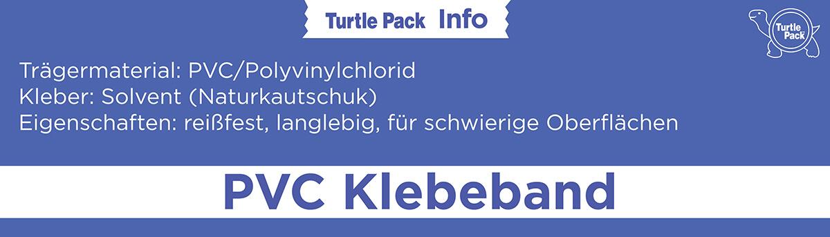 PVC Klebeband bedrucken - Eigenschaften | Turtlepack Onlinekonfigurator