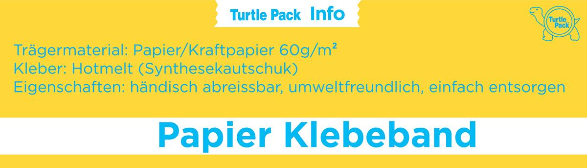 Papier Klebeband bedrucken - Eigenschaften | Turtlepack Onlinekonfigurator