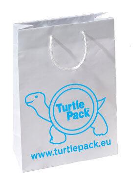 Papiertasche Kraftpapier weiß -TurtlePack™